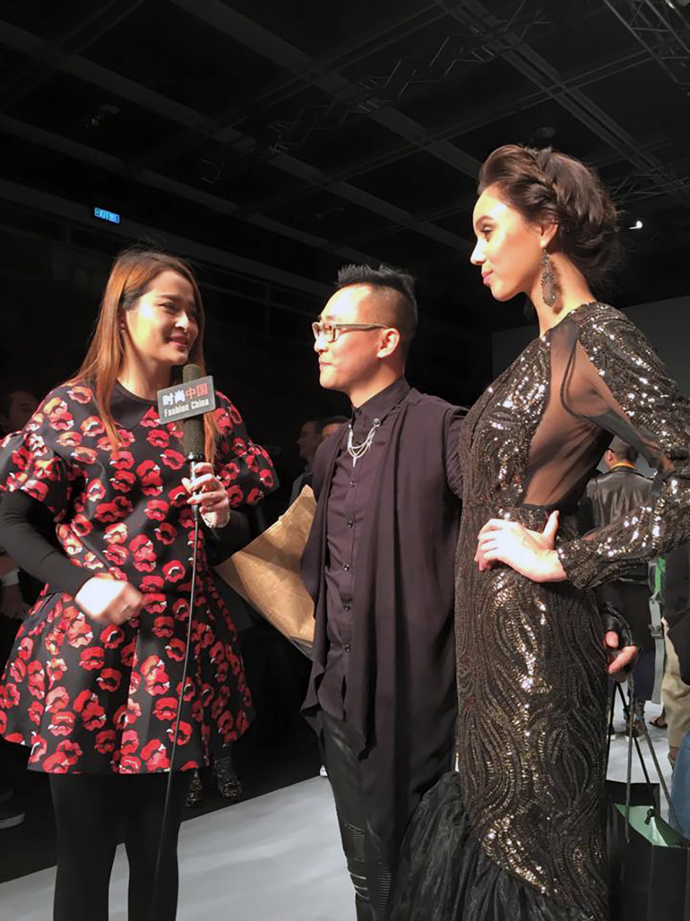 "FASHION CHINA 时尚中国  Interview by 陈慧媛, host of Guangxi TV program ""Fashion China"" at Hong Kong Fashion Week Broadcasted on 19 March 2015"
