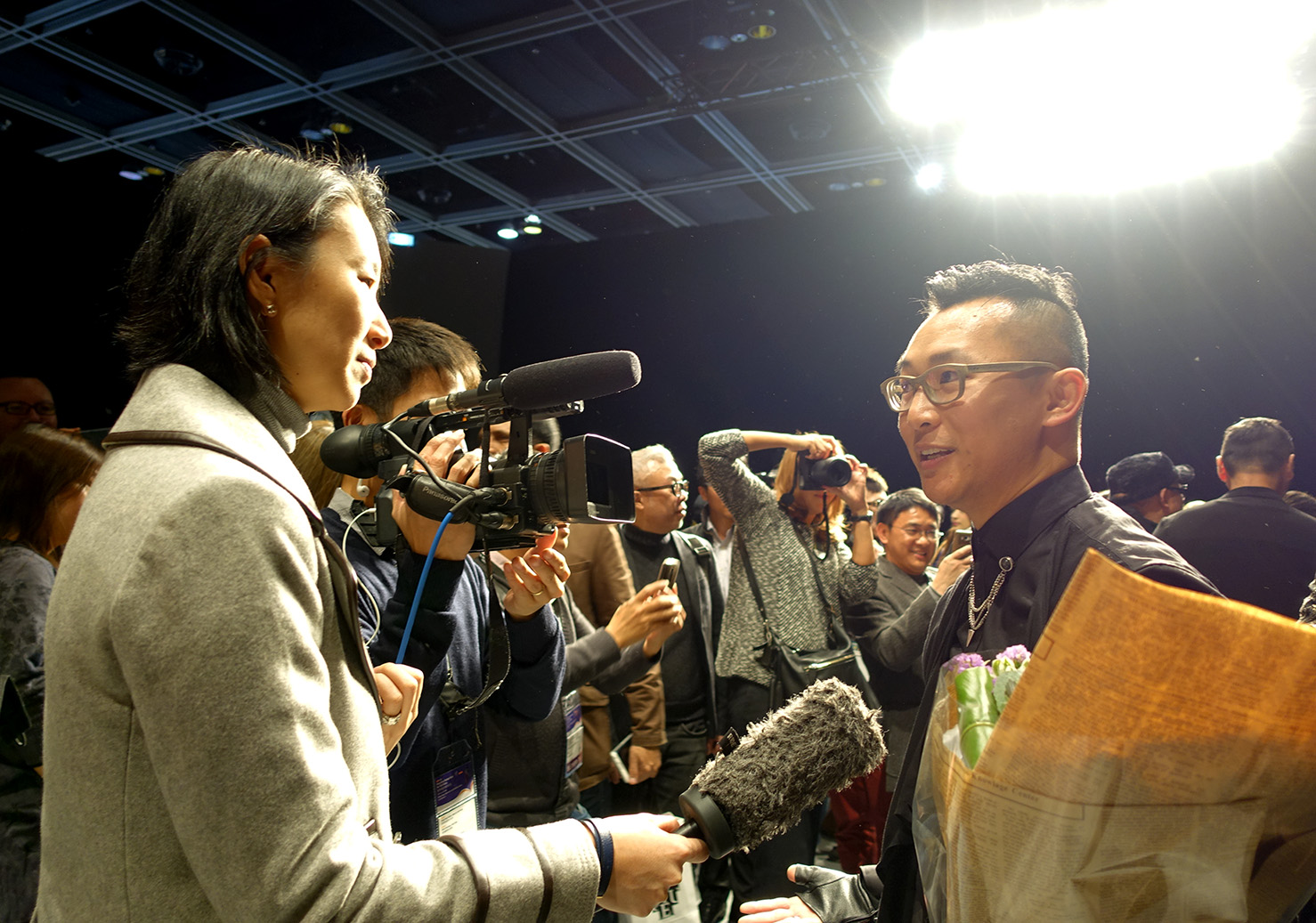 ASSOCIATED PRESS  Interviewed by Angela Chen at Hong Kong Fashion Week AW2015 on 19 January 2015