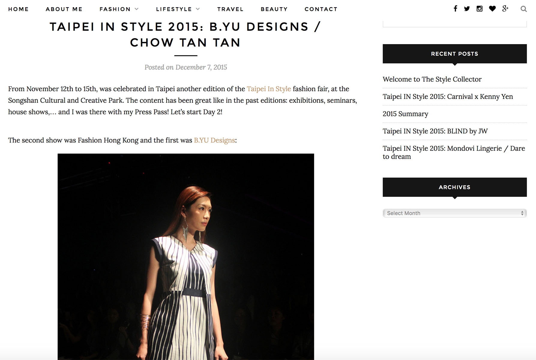 THE STYLE COLLECTOR BLOG  Published 7 December 2015
