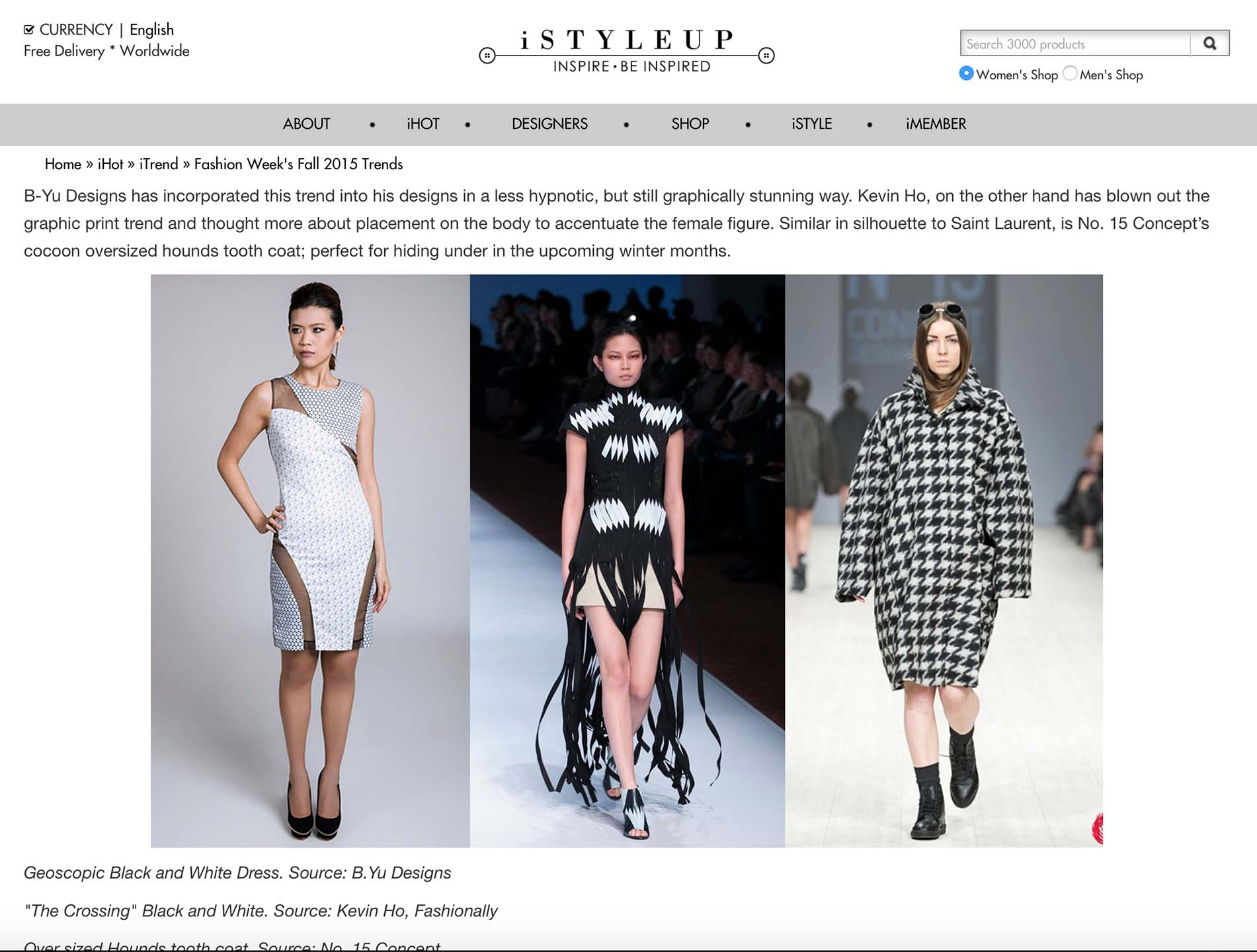 iSTYLEUP BLOG  Fashion Week's Fall 2015 Trends Published 10 November 2015