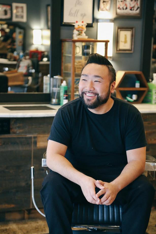 Frank, barber