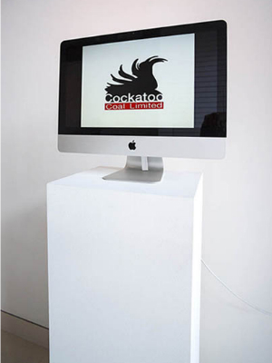 Checkout + Ransom Note   (with Denise Corrigan), 2013   Powerpoint (20 images), audio, on iMac    DW speaks about   Checkout + Ransom Note