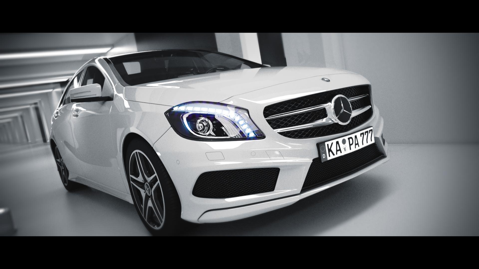 Mercedes-Benz A200 3D Render