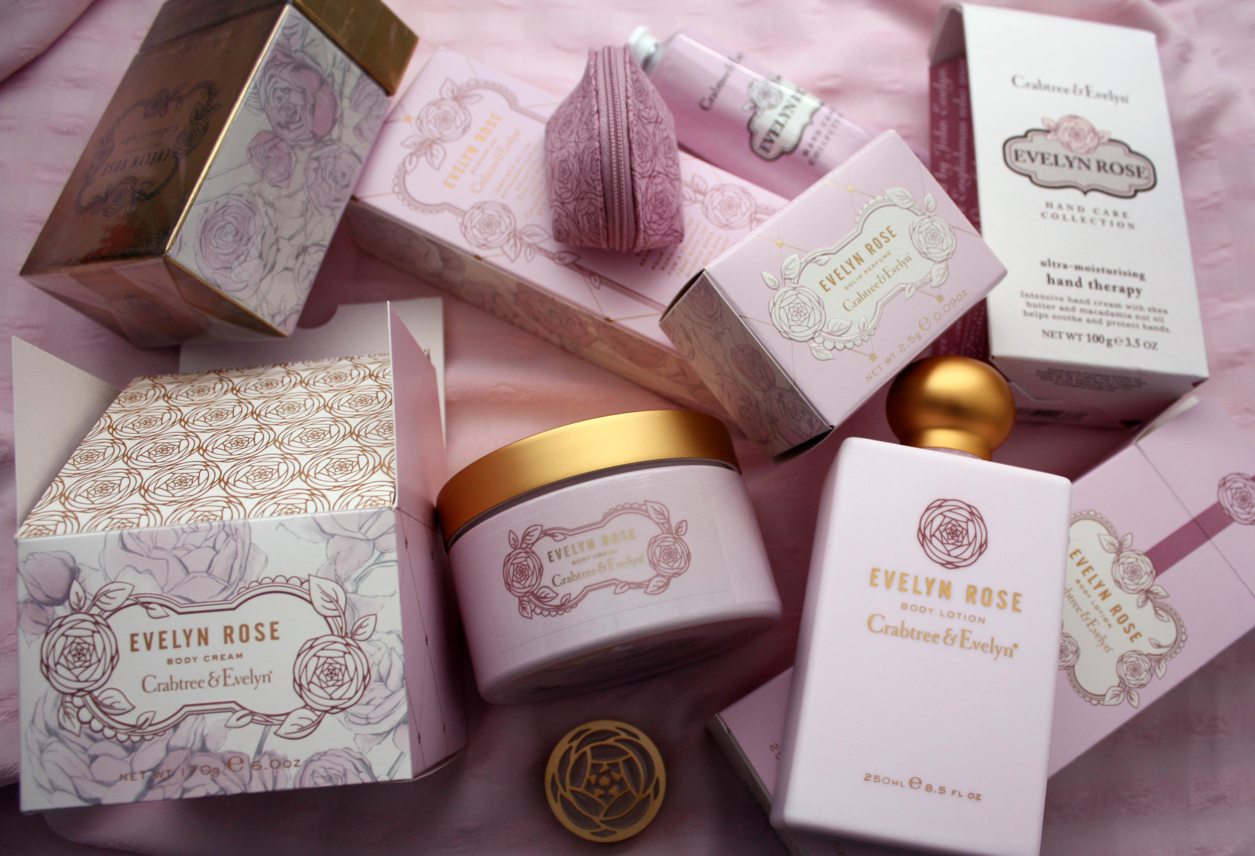 CRABTREE & EVELYN / Evelyn Rose collection packaging