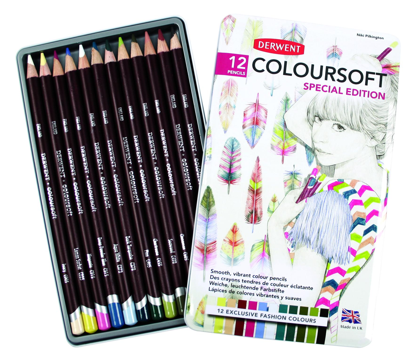 DERWENT PENCILS / Limited edition Coloursoft tin