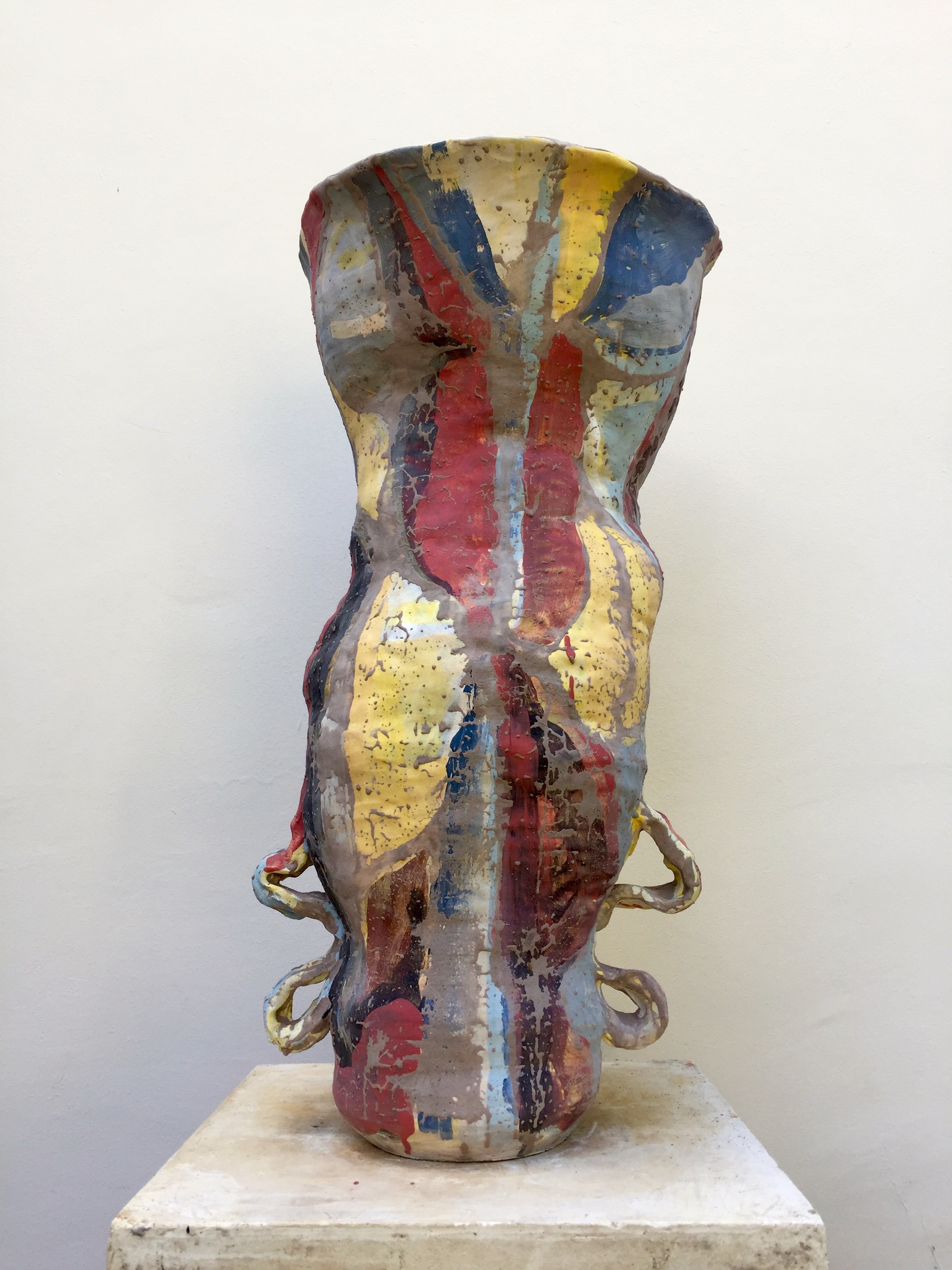 11 - Untitled, French Vessel #11, 2017  Glazed stoneware - Signed and dated  70 x 39 cm 27 x 15 inches Unique piece