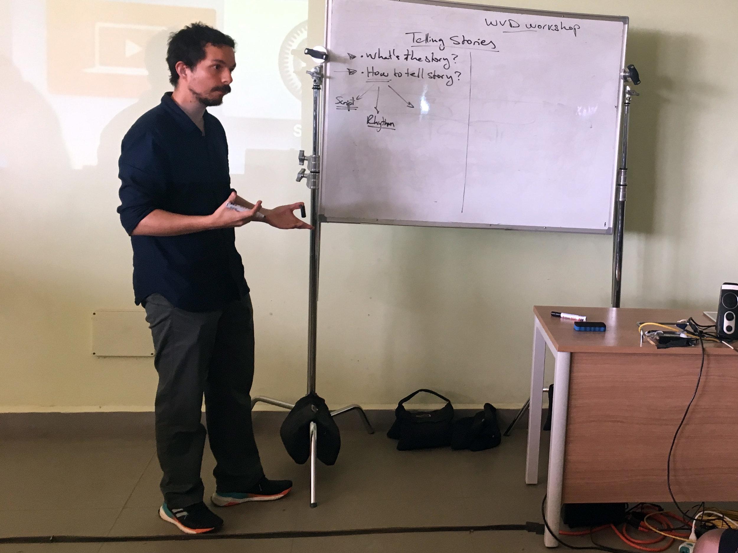Nicolas Cuellar discusses storytelling for new media.