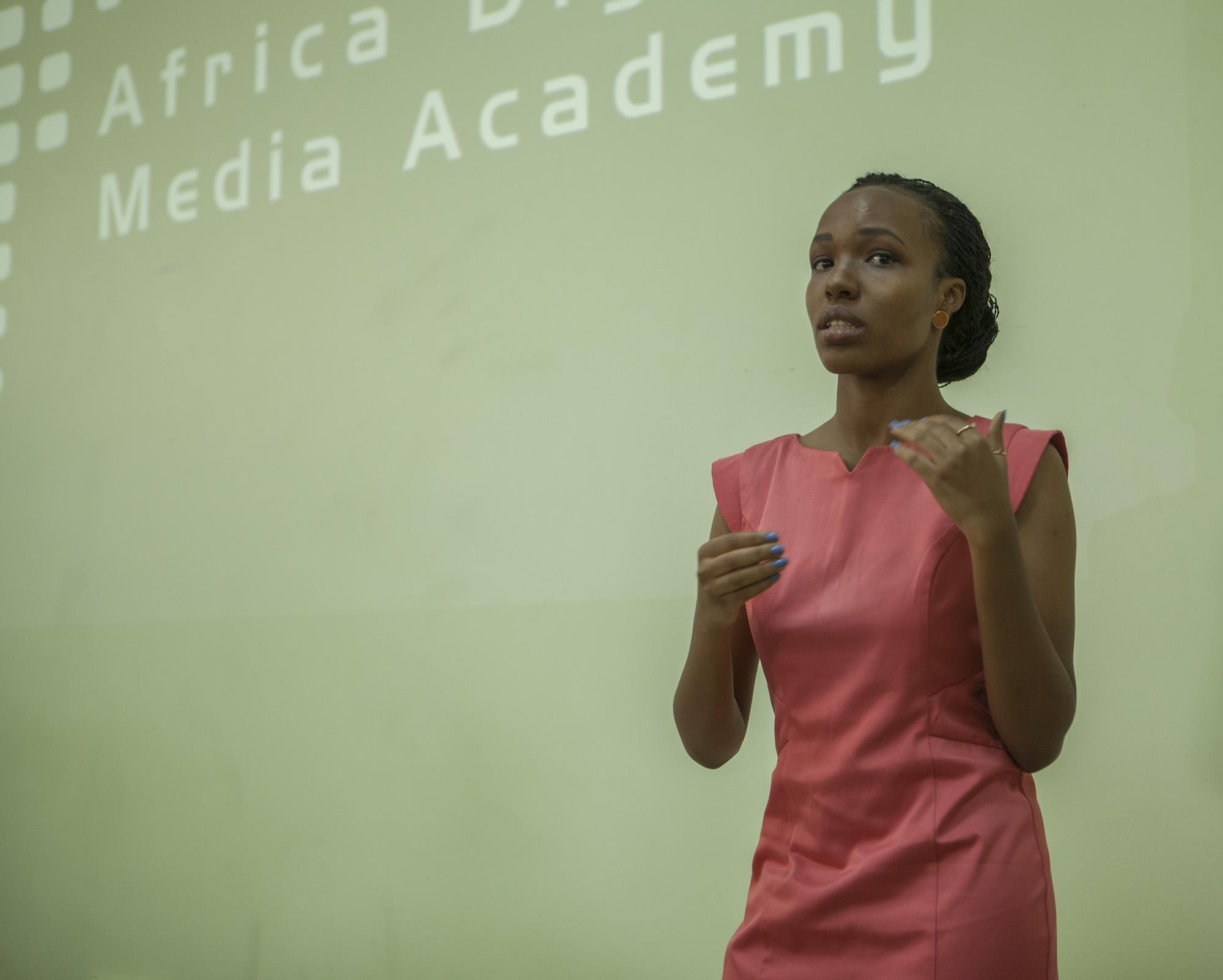 The Imbuto ADMA class selected Sharon Kalimba as their representative to speak at the graduation ceremony.