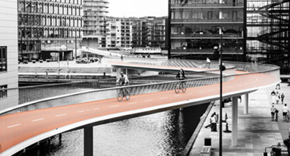 """D&AD Awards, Spatial Design / Public Community Spaces 2015    The Bicycle Snake  received a Graphite Pencil in the """"Spatial Design / Public Community Spaces"""" category at the  D&AD Awards  Ceremony 2015."""