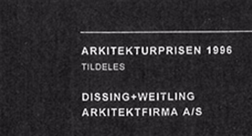 PAR's Architecture Award 1996   DISSING+WEITLING architecture receives PAR's Architecture Award (today Danske Ark).