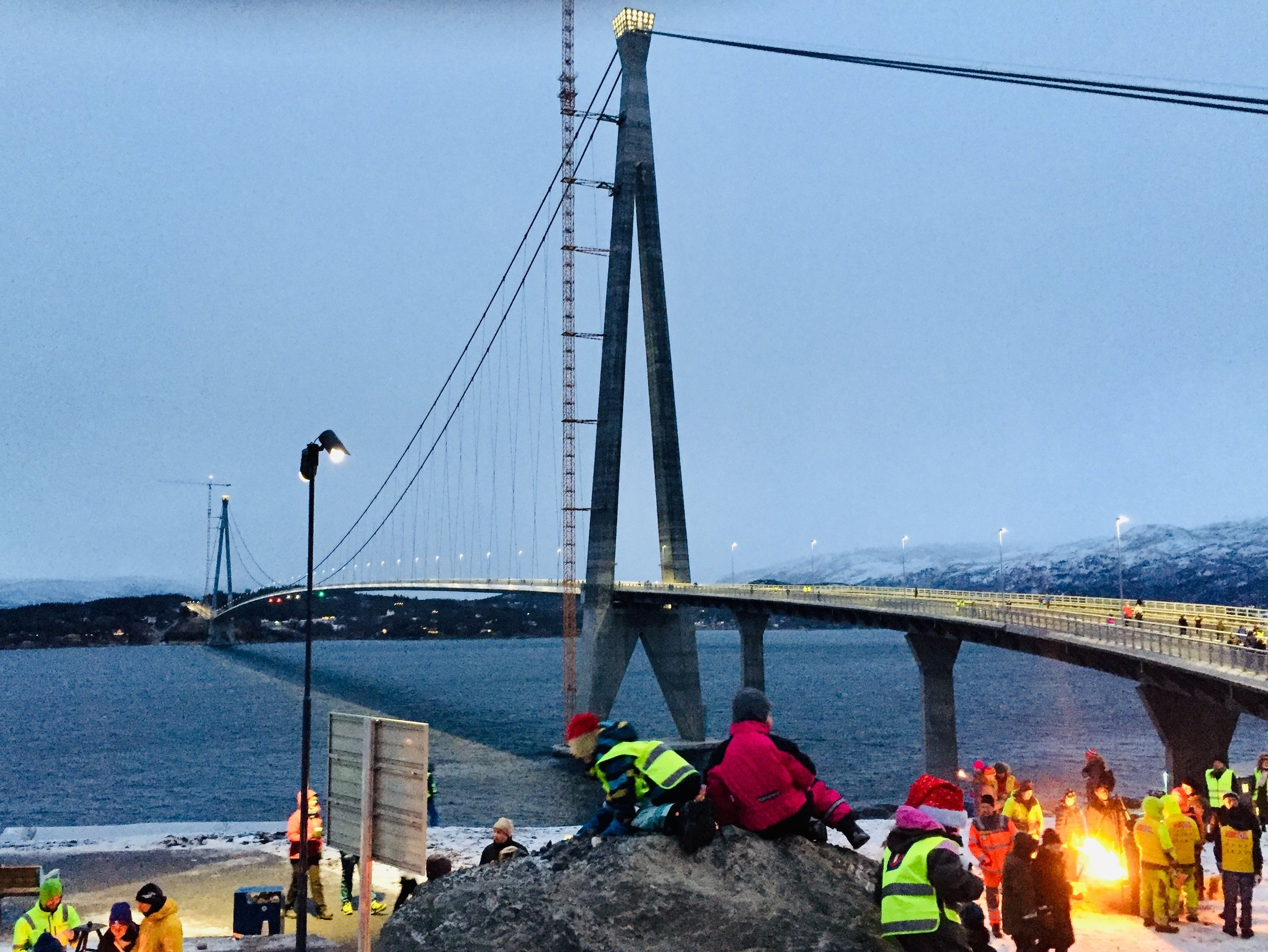 Norway's second longest suspension bridge reduces the distance between Narvik and Bjerkvik by 18 km.