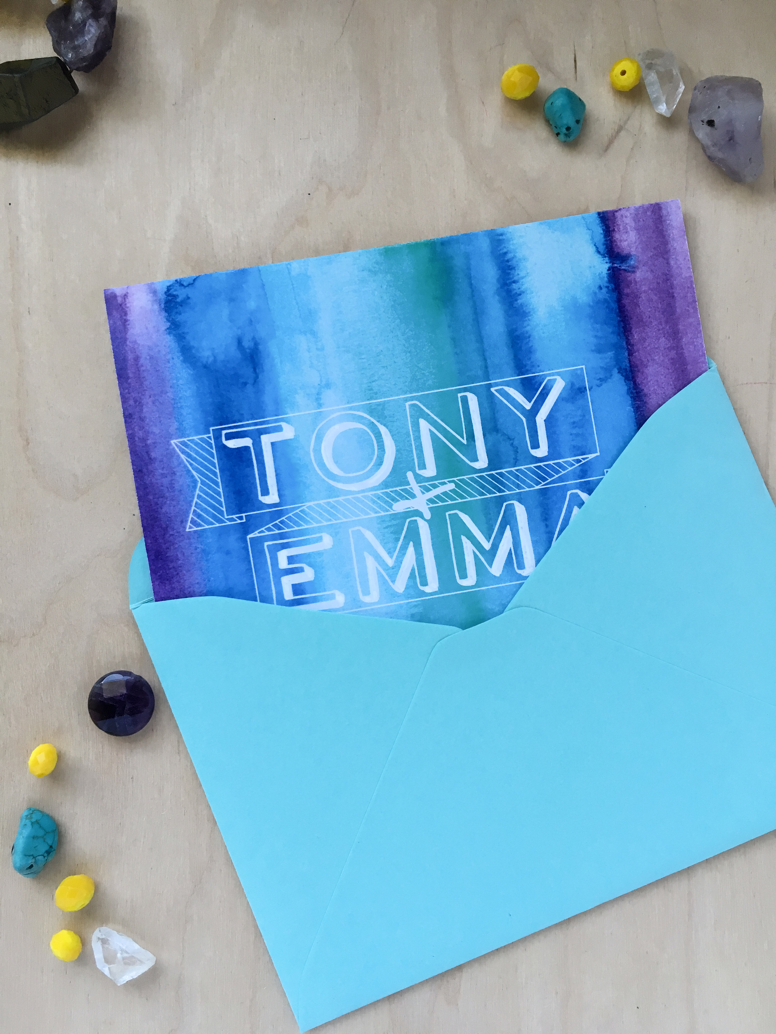 Emma and tony cover and envelope
