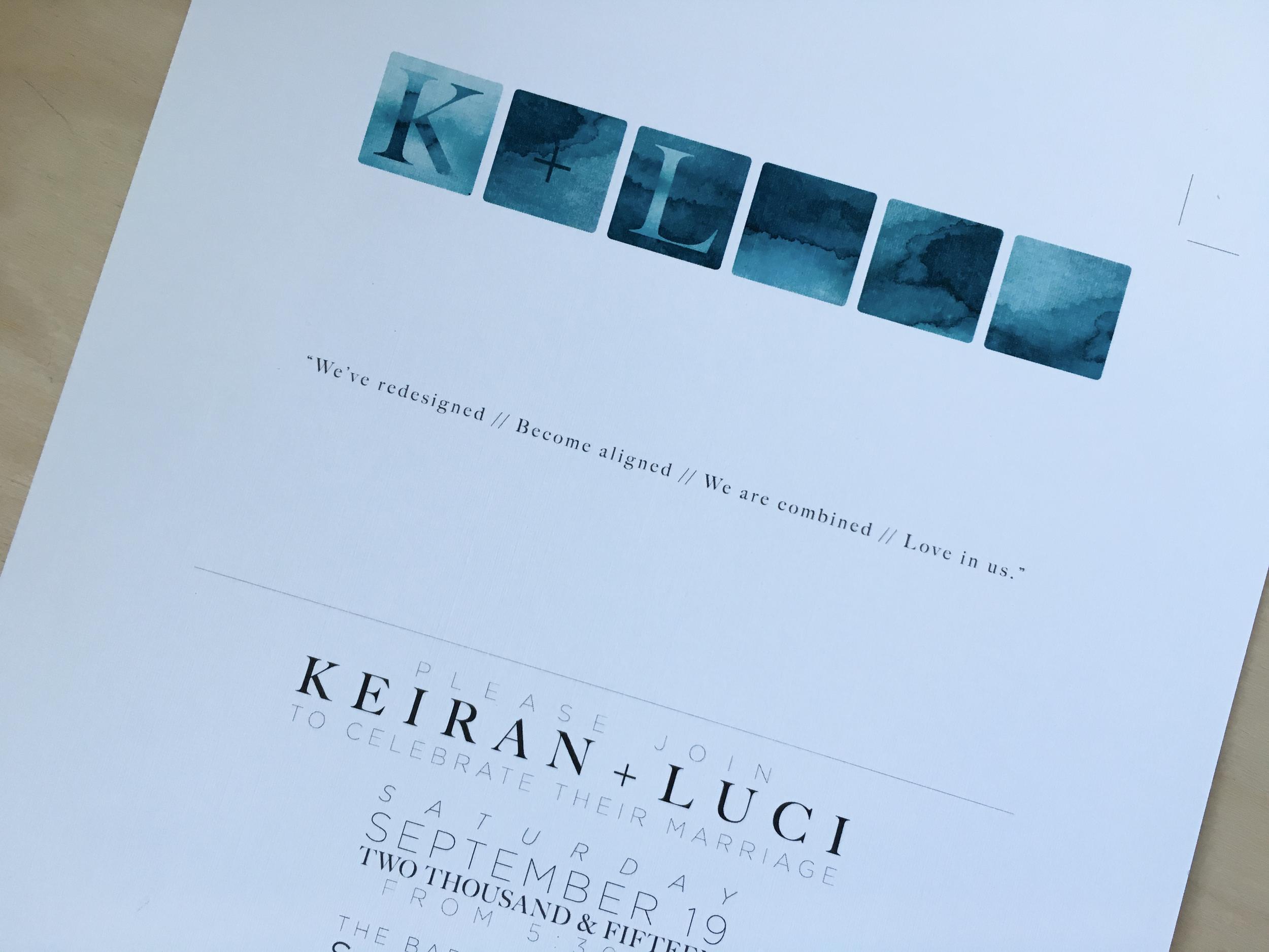 LK invite inside cover