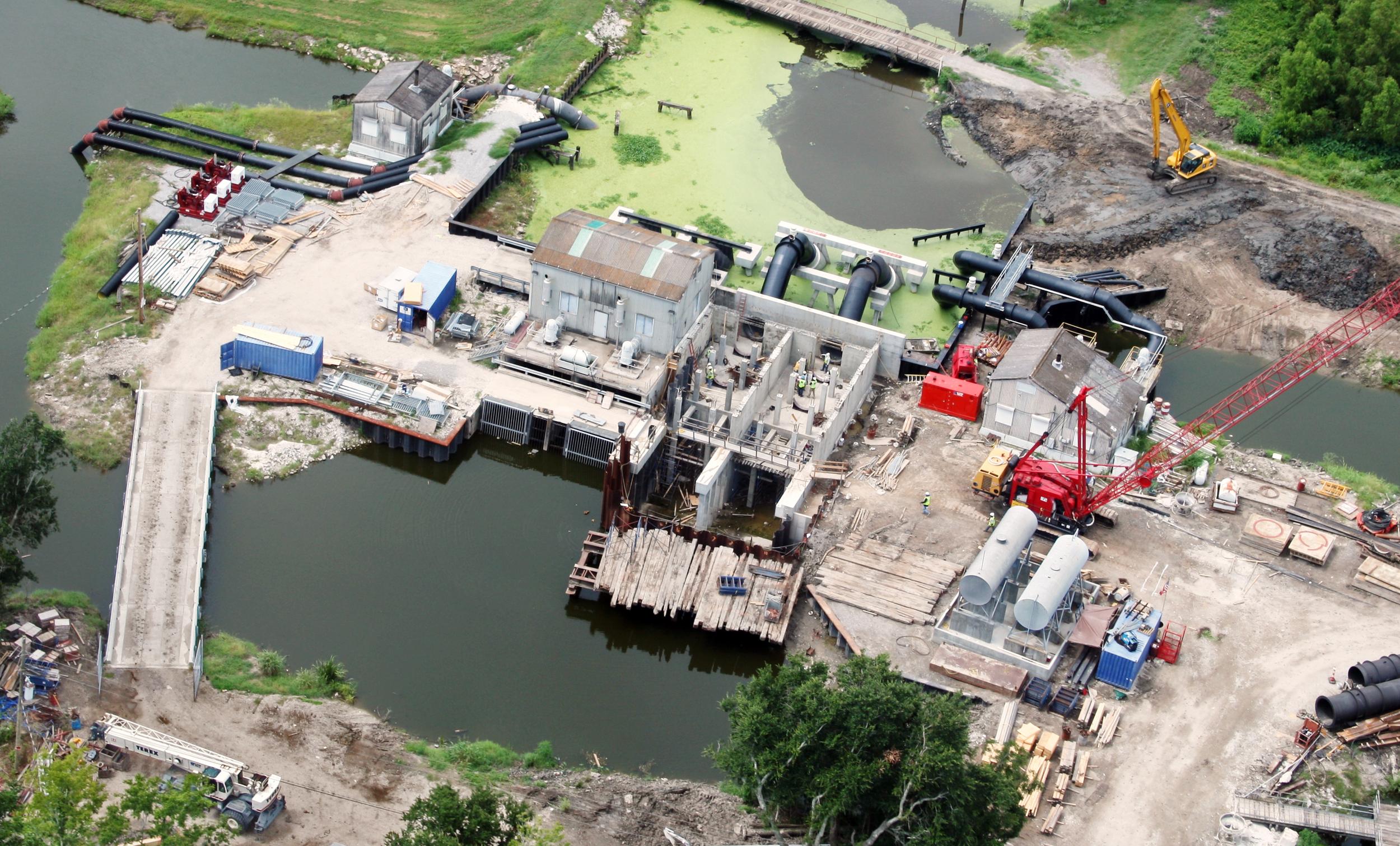 Ollie Drainage Pump Station Expansion , Jesuit Bend, LA