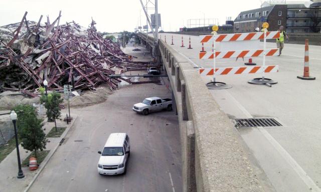 Interstate 10 Inspection/Pallas Hotel Implosion, New Orleans, LA