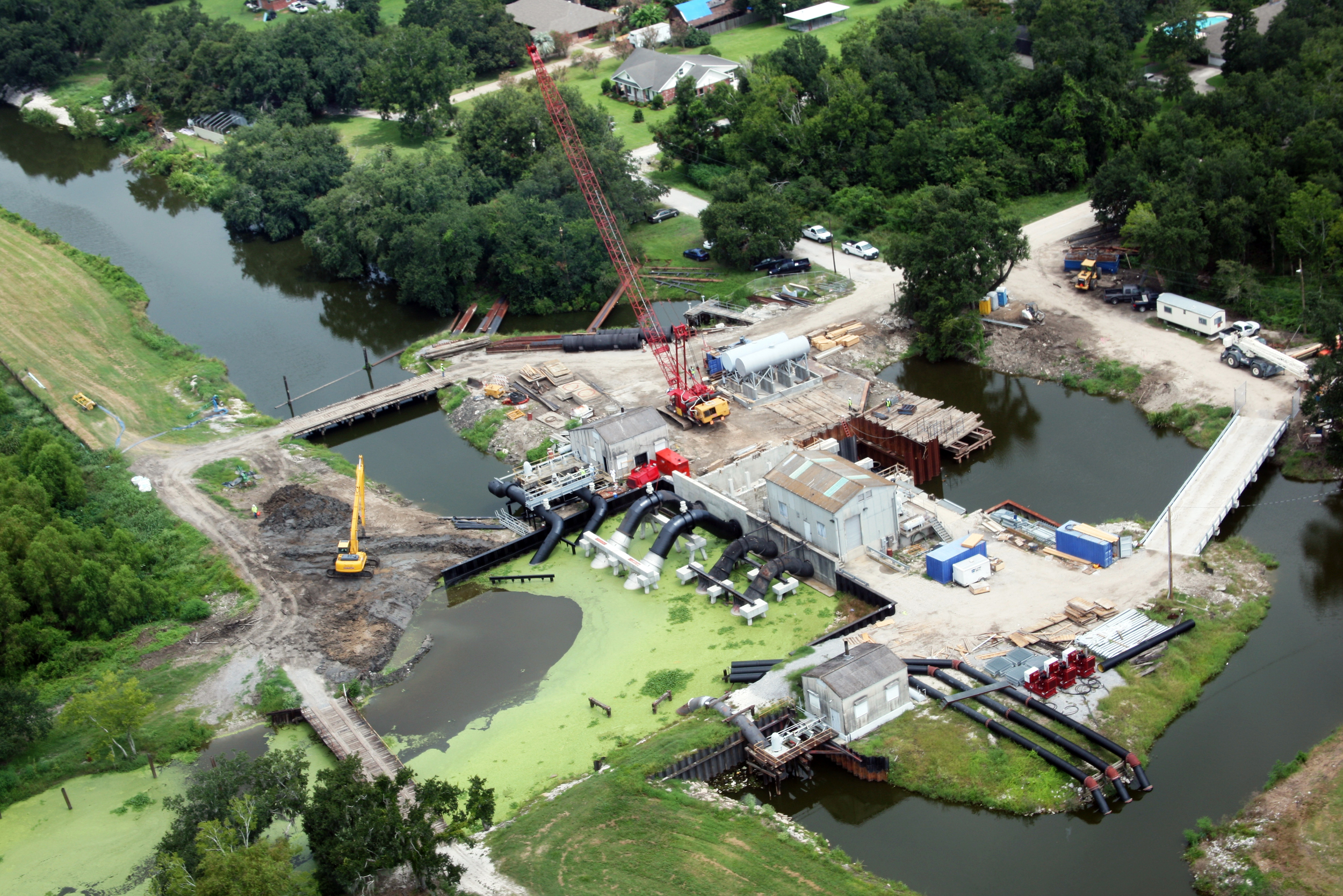 Ollie Drainage Pumping Station Expansion, Jesuit Bend, LA