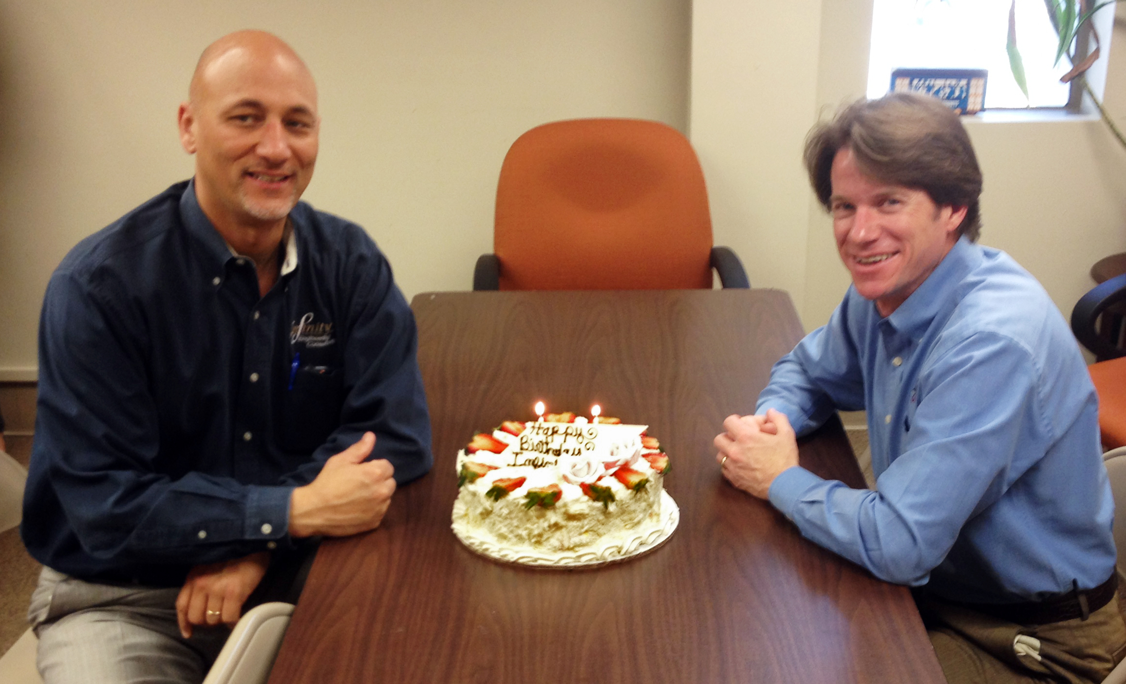 Principal Parnters Raoul Chauvin, left, and Bill Thomassie celebrate Infinity Engineering Consultants' 11th anniversary on March 4, 2015.