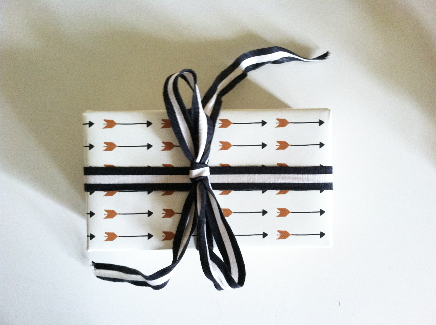 Falling Arrows Gift Wrap. Copyright Kathryn Zaremba 2013