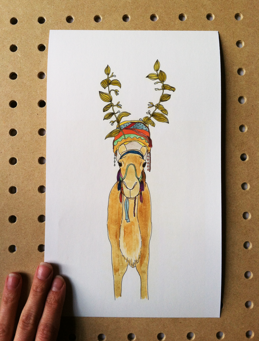 Camel who wanted Horns by Kathryn Zaremba 2014