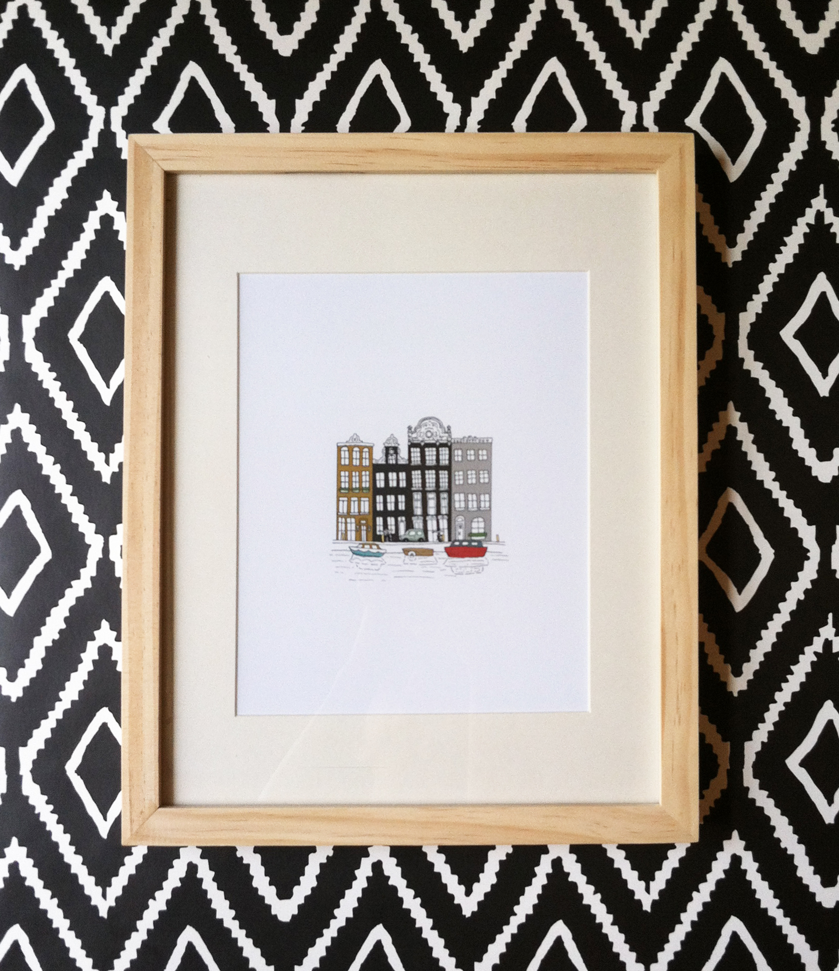 Amsterdam Print + Diamond Wallpaper. Kathryn Zaremba 2014