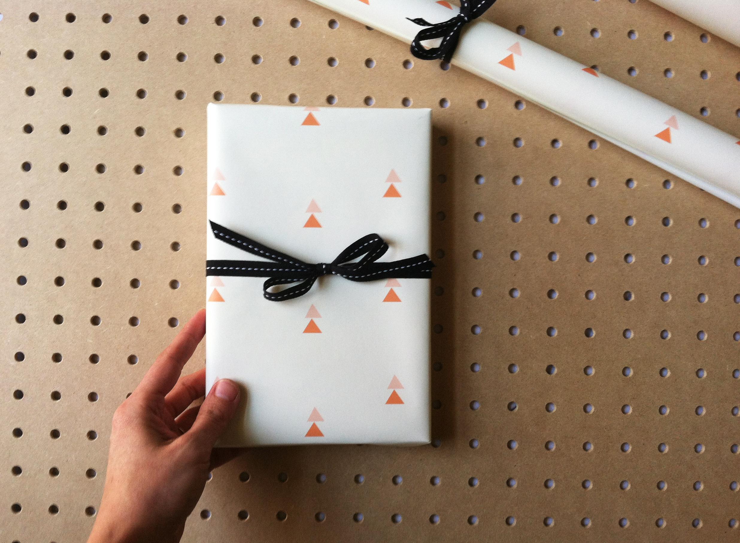 Peachy Keen Gift Wrap. Kathryn Zaremba 2014