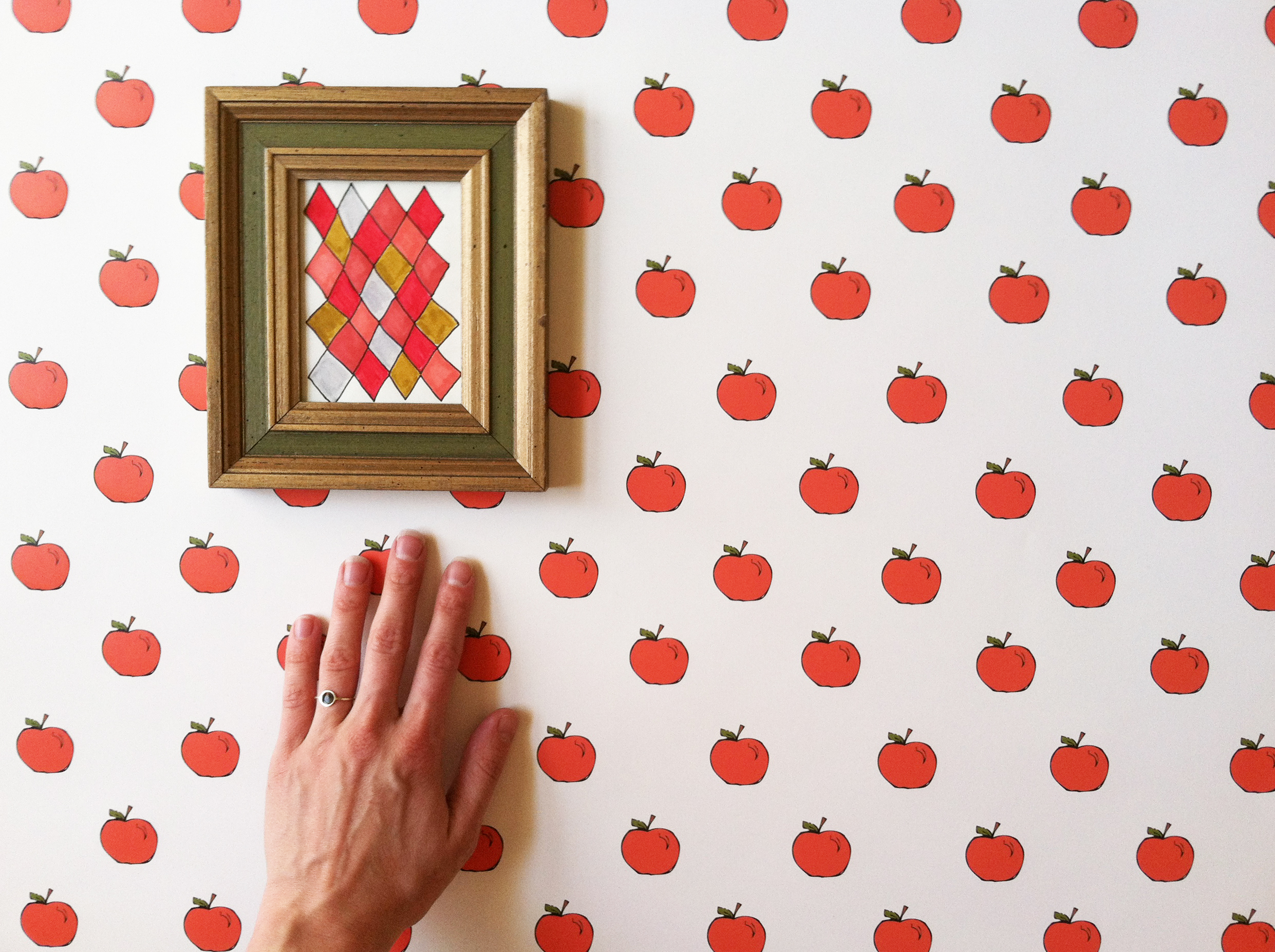 Apples to Apples wallpaper by Kate Zaremba Company