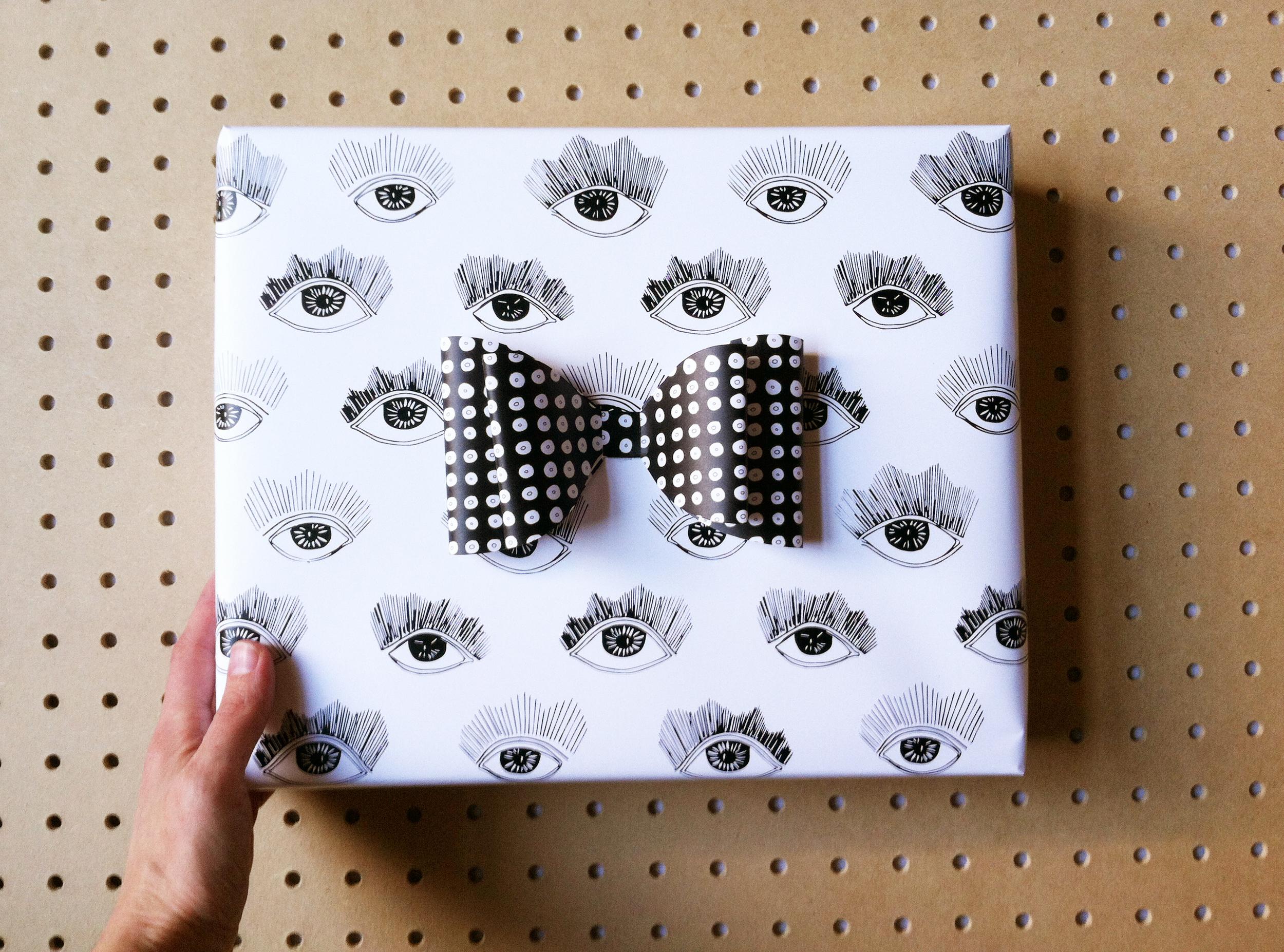 Bright Eyes Gift Wrap by Kate Zaremba 2014