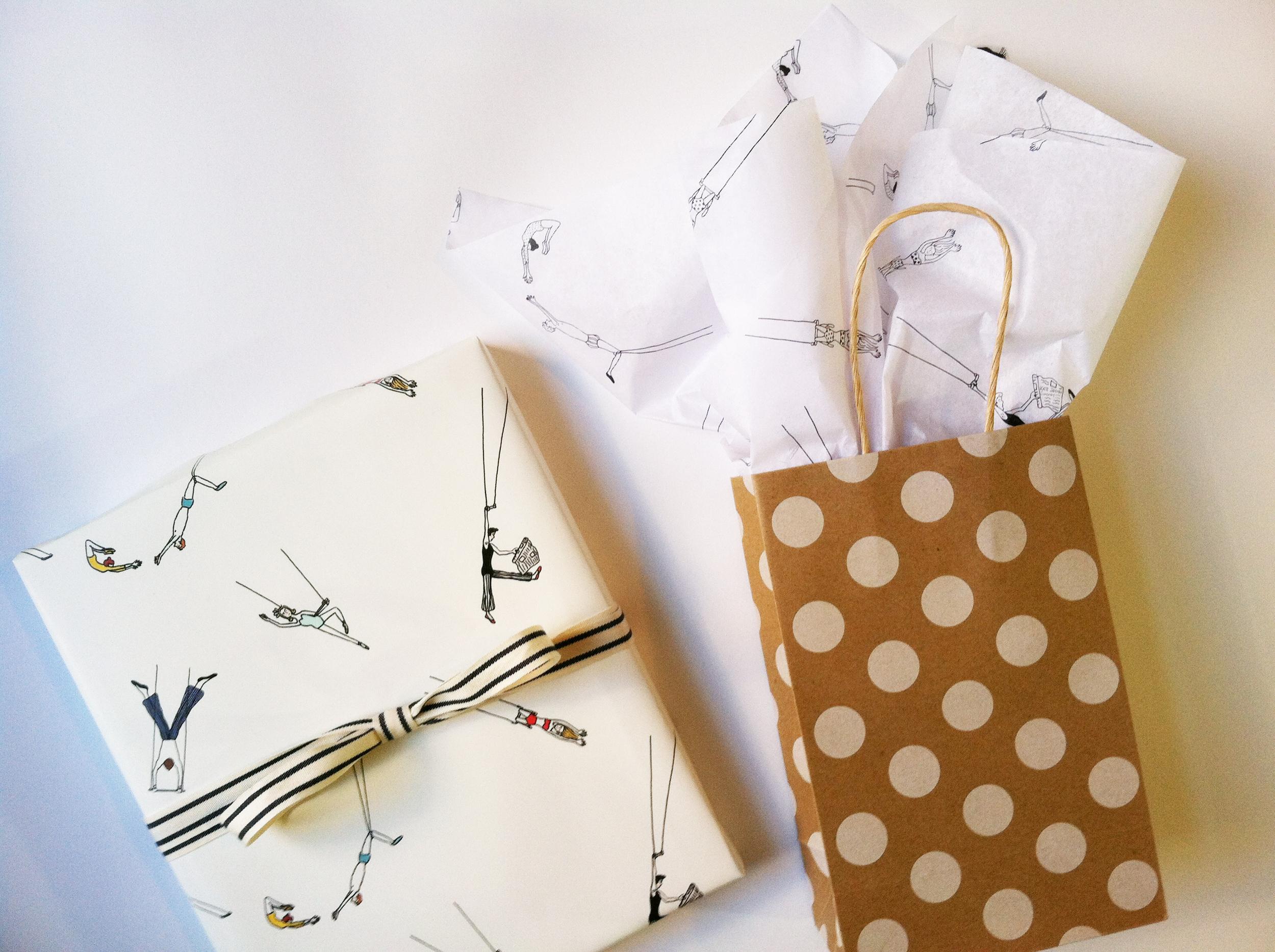 Trapeze Gift Wrap by Kate Zaremba Company 2014
