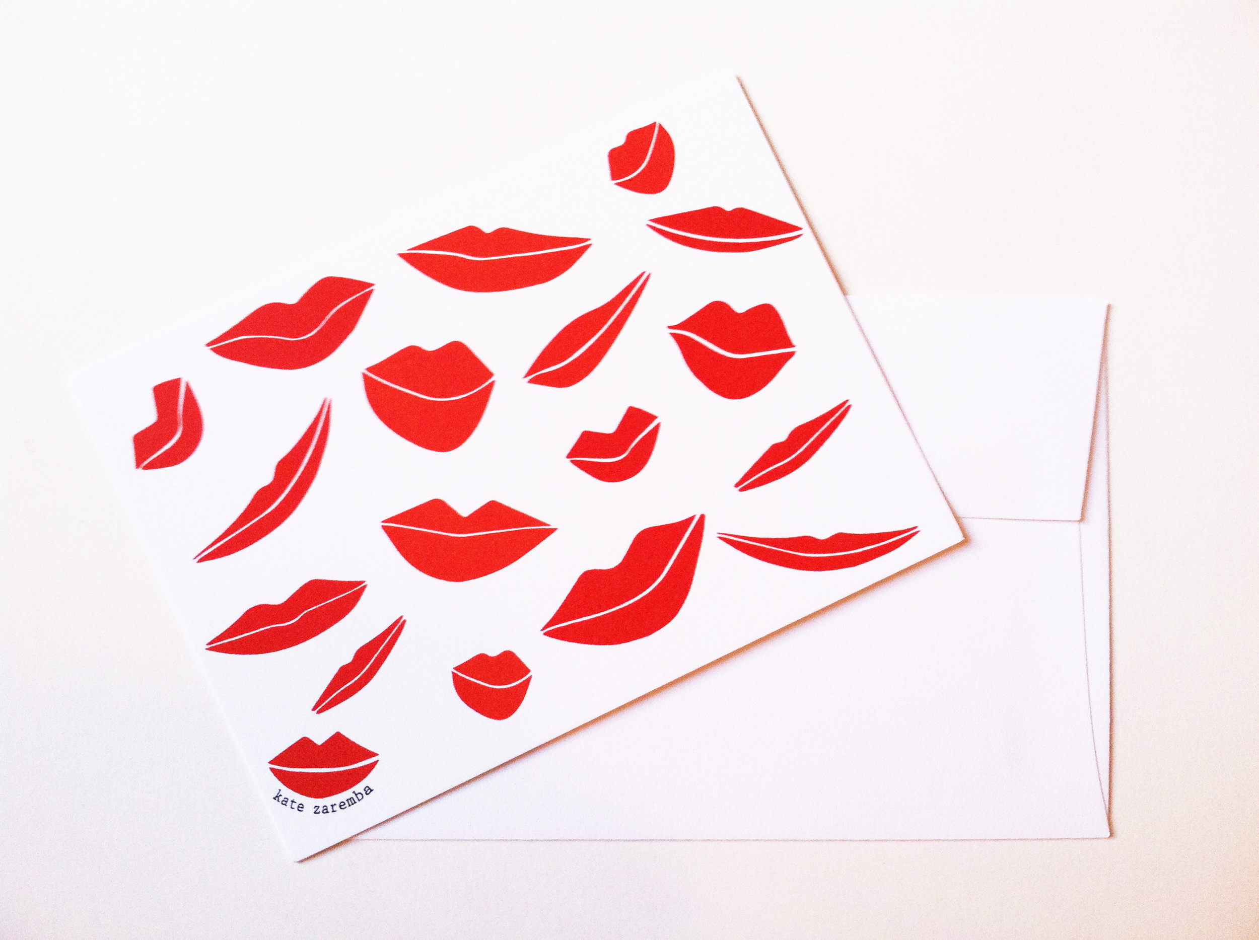 Little Kisses. Cards // Kate Zaremba Company