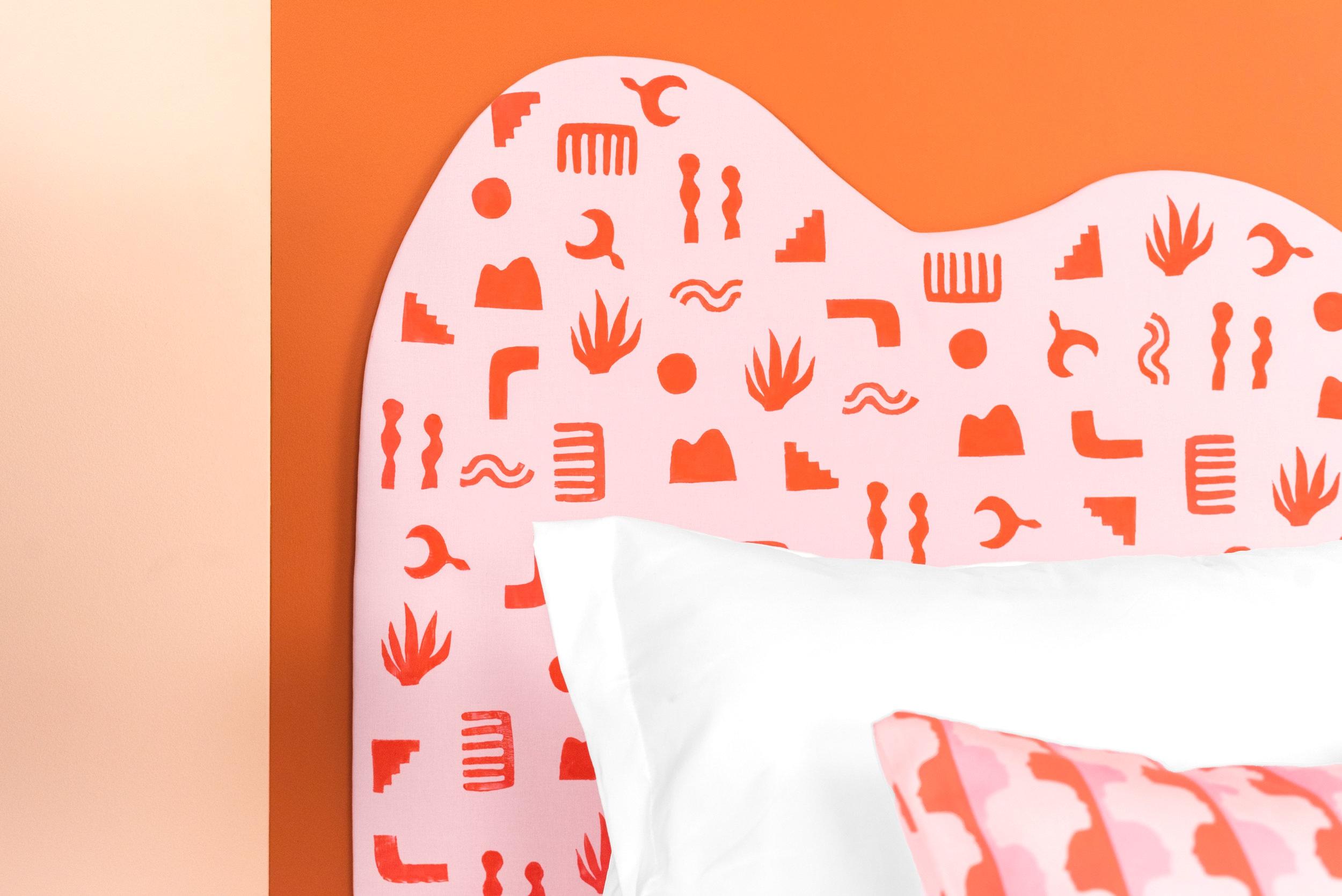 Learn how to block print a headboard! by Kate Zaremba