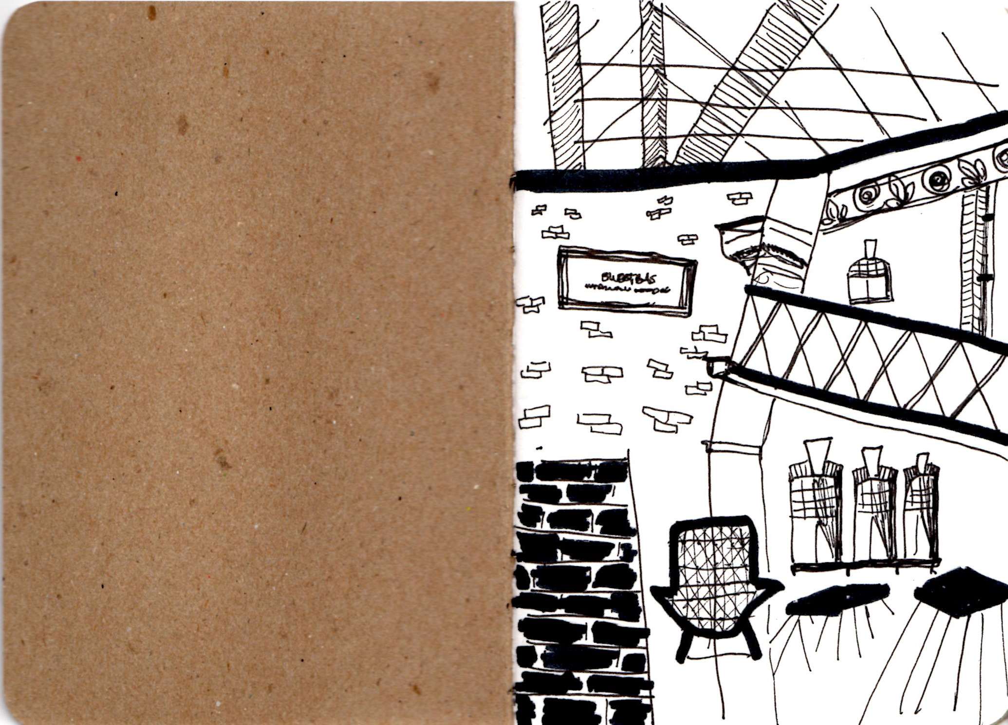 Spitalfields (first page of my new sketchbook)