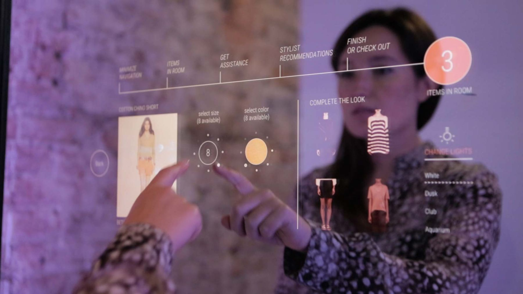 Oak Labs  provides smart mirrors for a magical fitting room experience