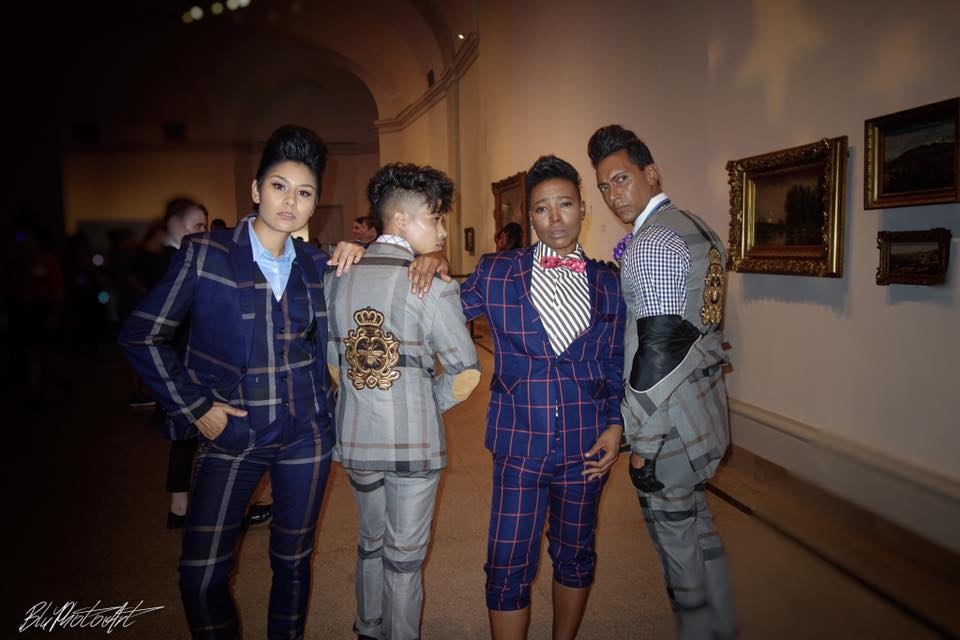 Biz Partner in Crime @bluphotoart Captured This Amazing Shot Backstage at The Brooklyn Museum DapperQ Show