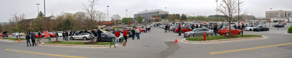 A shot of the first gathering on Saturday, March 31, 2012 at Hunt Valley Towne Centre