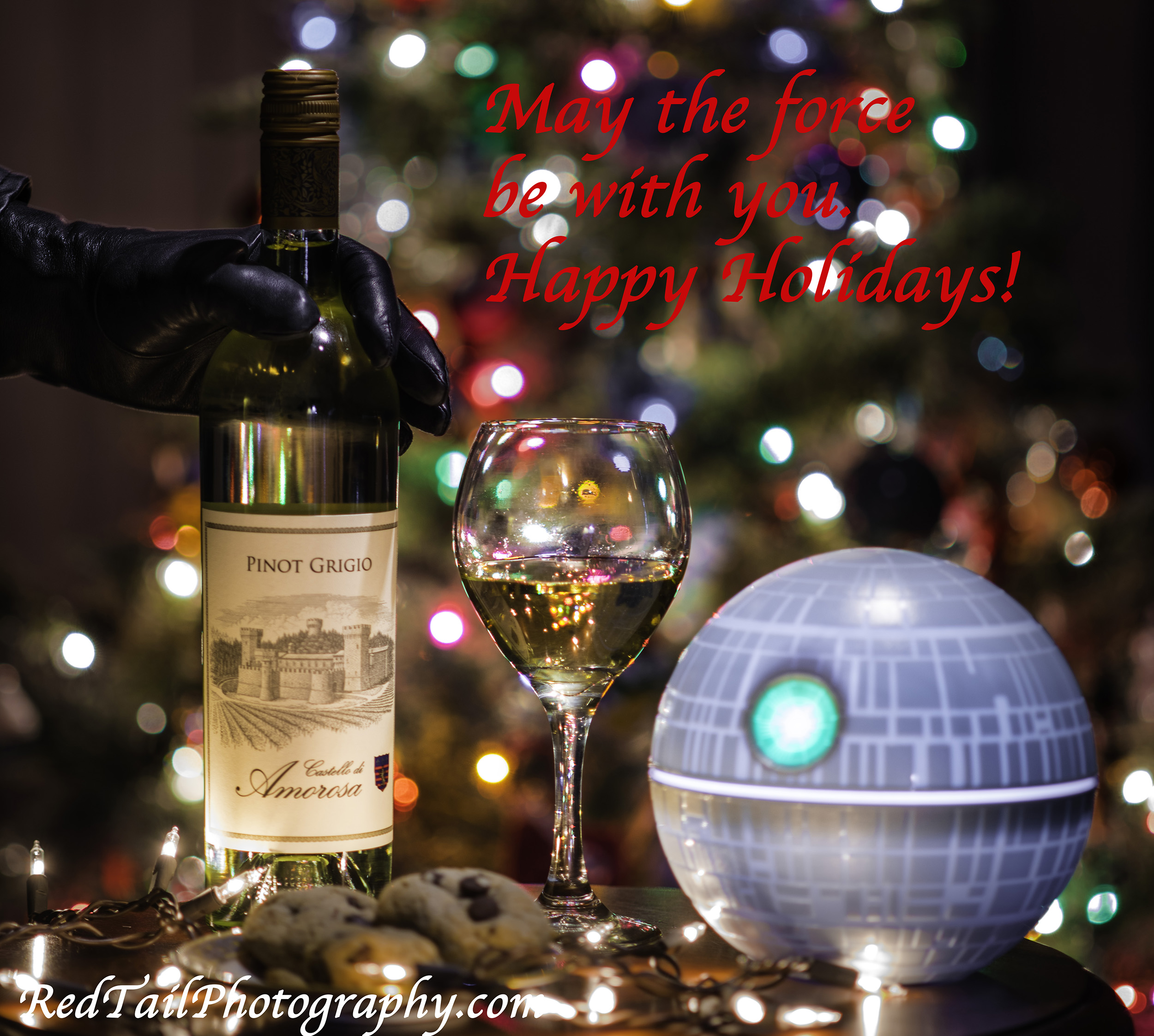 Castello di Amorosa Napa wine holiday advertising (Star Wars)