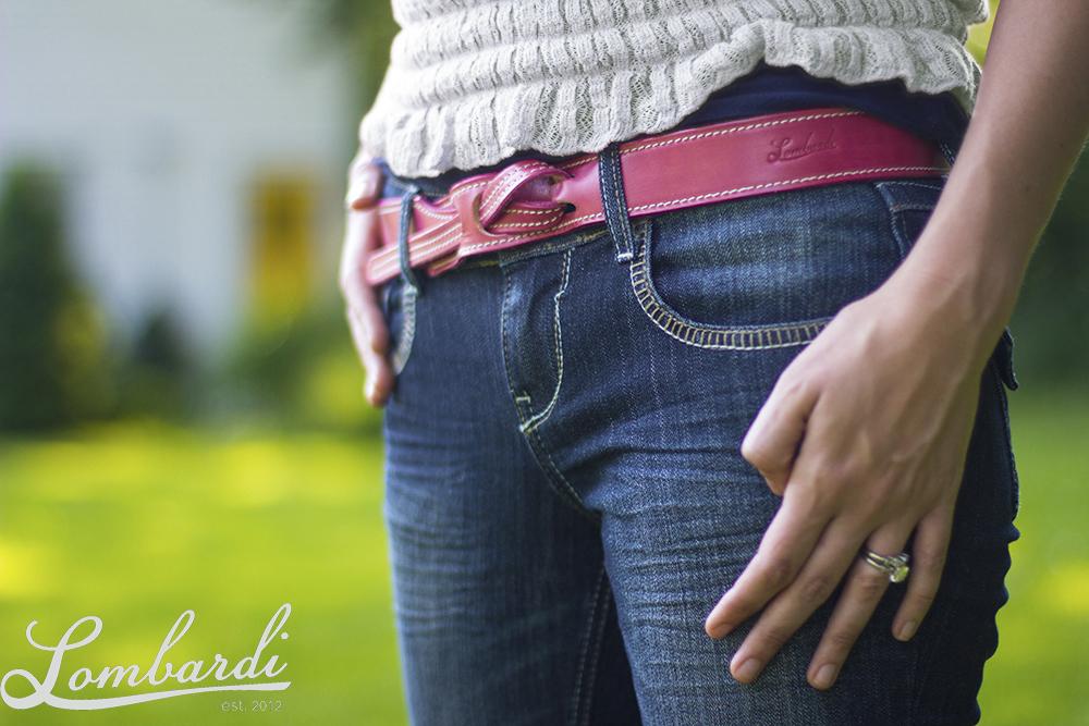 Lombardi Leather Nicole Pink Belt.jpg