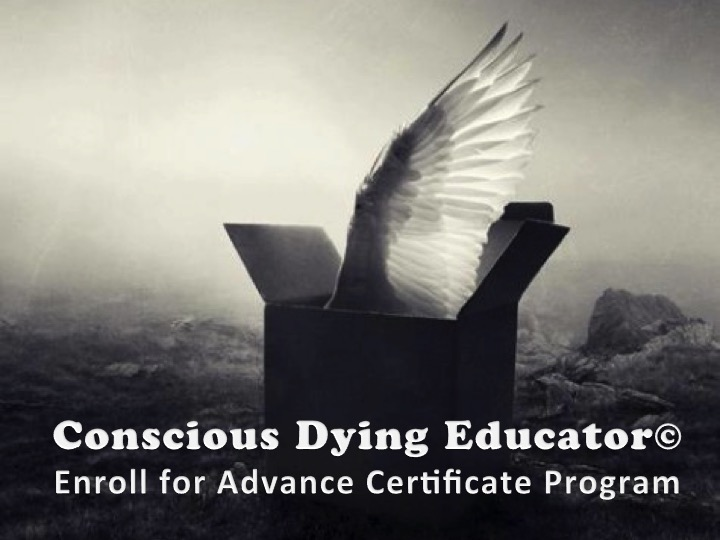 Conscious Dying Education  prepares  Graduates  to facilitate Conscious Dying Education and Care.    It  prepares those  who  wish  to  bring  this  important  work  into  their communities and transmit their heart wisdom to others.