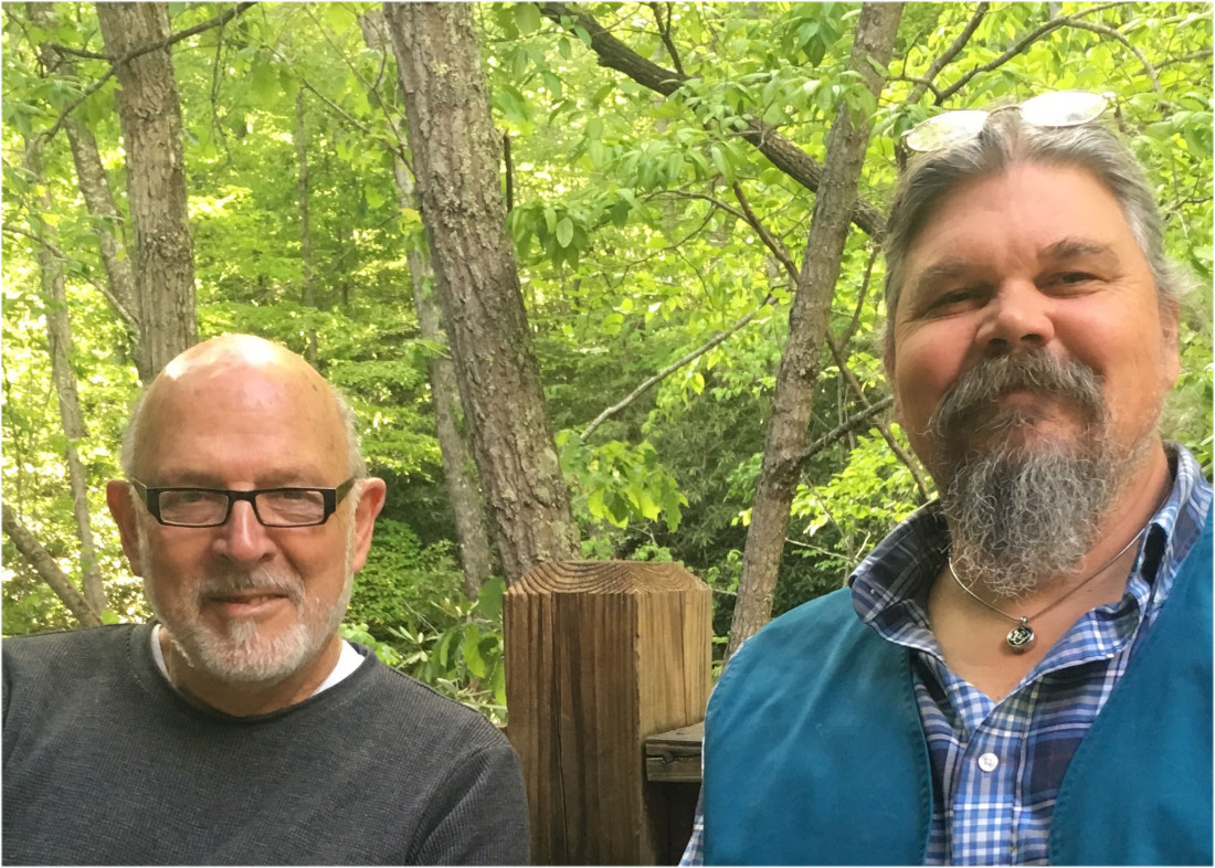THE SACRED ART OF DYING: Third Messenger co-founders Said Osio, left, and Greg Lathrop promote community events such as the popular Death Cafe, a community forum that invites participants to engage in conversation about death and dying. Photo courtesy of Greg Lathrop