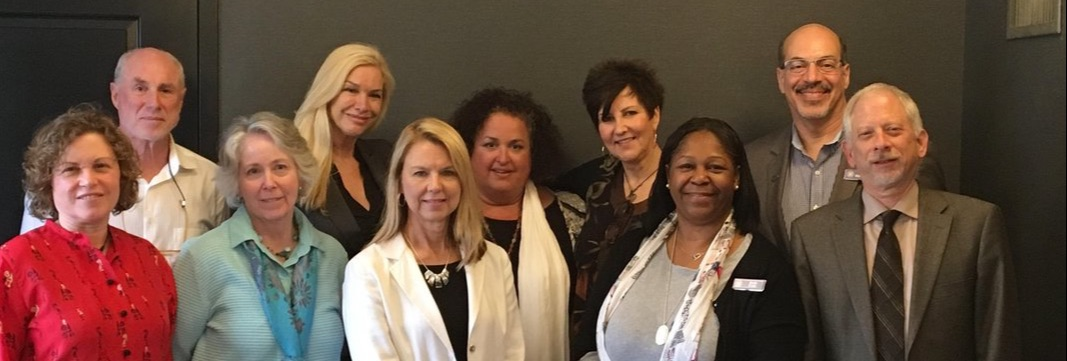 2018 Inaugural NHPCO End-of-Life Doula Council Meeting, April 25, Washington, DC (l-r) Merilynne Rush (LifeSpan Doulas), Jeff Markle (proxy for Tarron Estes, Conscious Dying Institute), Lee Webster (National Home Funeral Alliance), Suzanne O'Brien (DoulaGivers), Trudy Brown (Teaching Transitions), Chair Deanna Cochran (Quality of Life Care), Patty Burgess (Teaching Transitions and Doing Death Differently), Beth Fells (NHPCO Executive Office Director), John Mastrojohn (NHPCO Chief Operating Officer), and Vice Chair Henry Fersko-Weiss (International End-of-Life Doula Association)