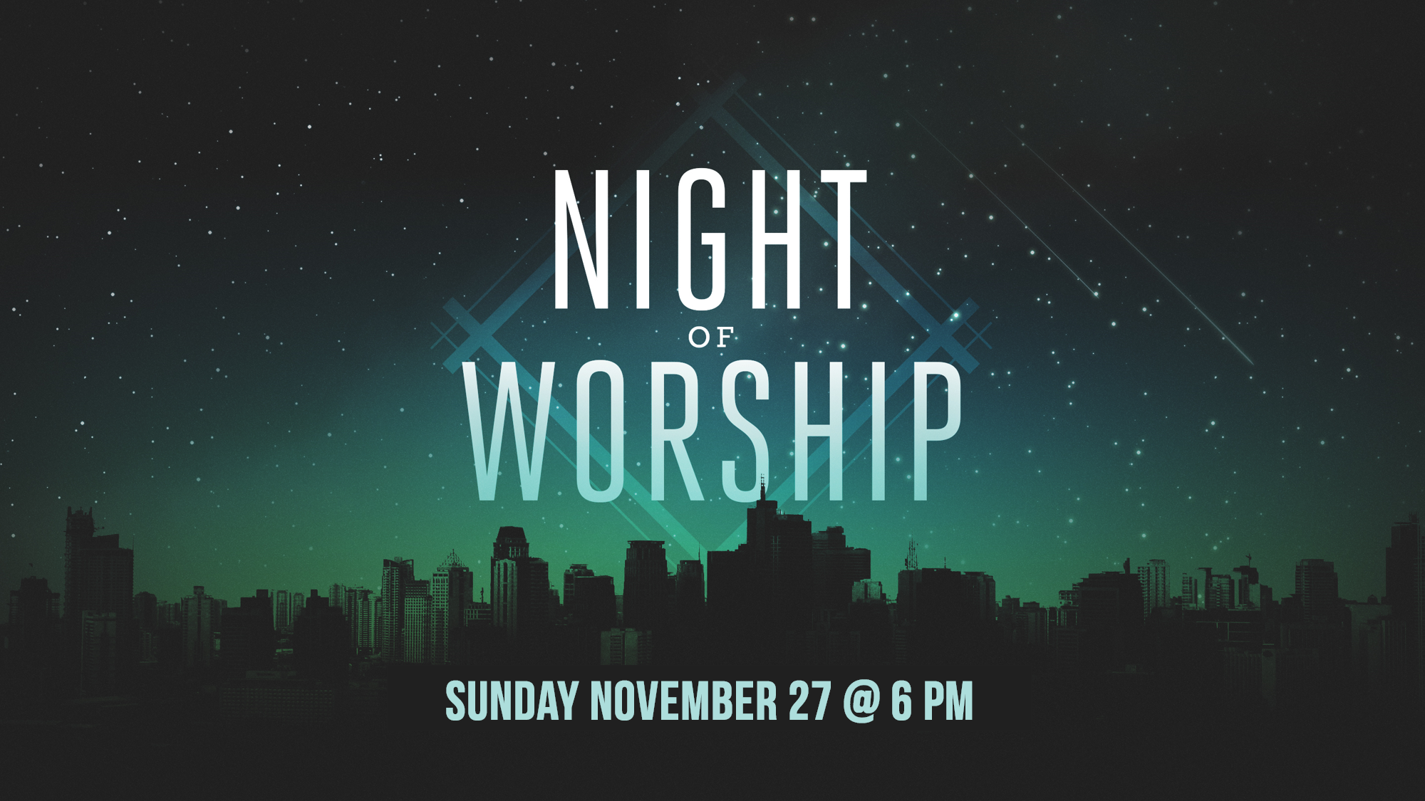 Everyone is welcome as we come together for a night of worship to our God. Come expecting!