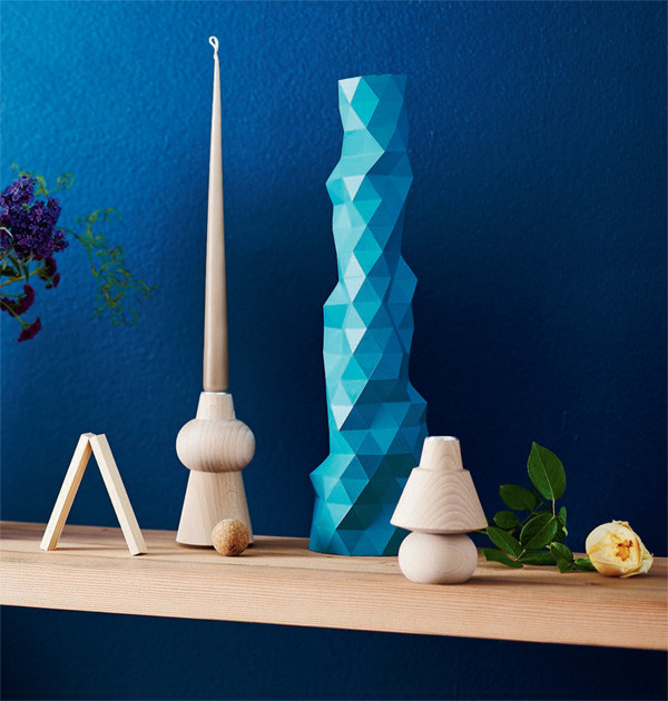 Faceture Vase/Blue