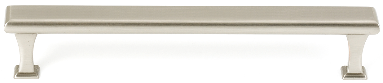 106A310-6-SN Manhattan handle 6in ctc solid brass, satin nickel finish. Also available in polished nickel, polished chrome and bronze.