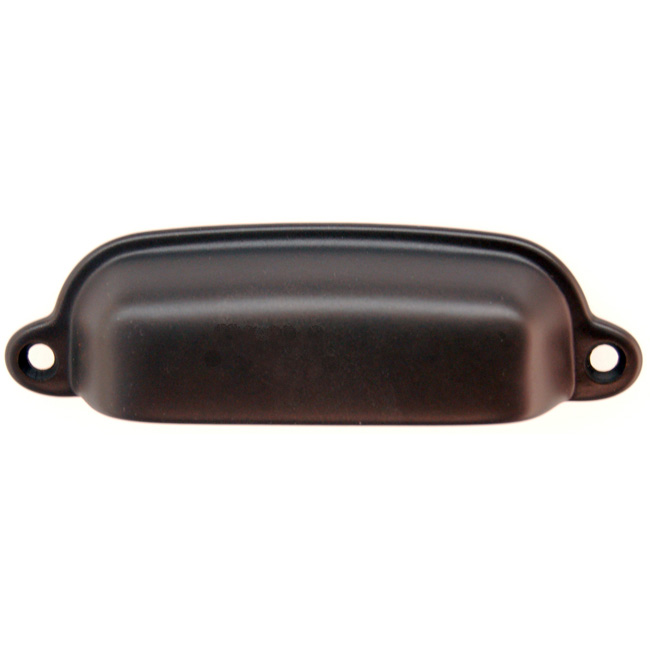 2361115-OB Bin pull 3-3/8in ctc 3-3/4in overall. Solid brass with oil rubbed bronze finish. Available in seven finishes.
