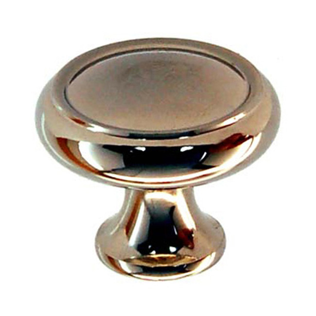 2361434-PN Elegant cabinet knob 1-1/4in dia. Solid brass with polished nickel finish.