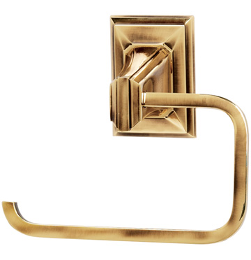 106A7966-PA Geometric open toilet paper holder shown in polished antique.  Available in seven finishes.