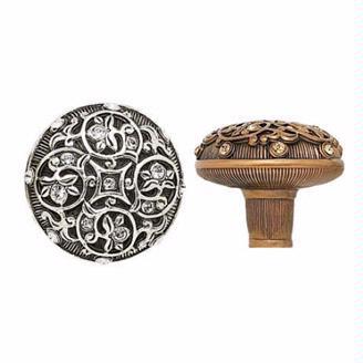 "2517158 Swarovski crystal adorned knob 1-5/16"" diameter. Available in several finishes."