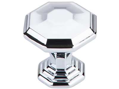 "183TK340-PC Chalet knob 1-1/4"" shown in polished chrome. Available in two sizes and four finishes."