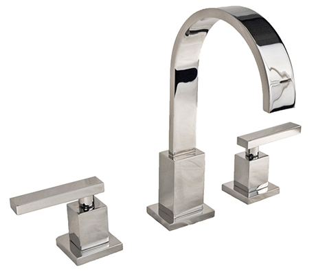2282040-26 Secant widespread lav faucet shown in polished chrome.  Available in 27  finishes .
