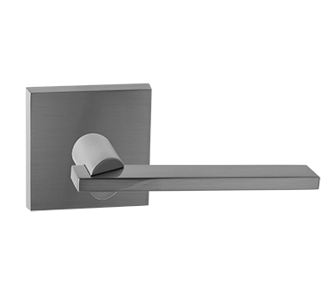 217943-7-US15 Haute Moderne lever square rose. Shown in satin nickel. Available in all functions and three finishes.