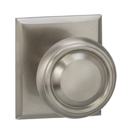 165565RT-15 Traditional knob rectangle rose, shown in satin nickel. Available in all functions and six finishes.